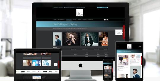 The Salon London Bridge Website by Blue Pixel Design Ltd