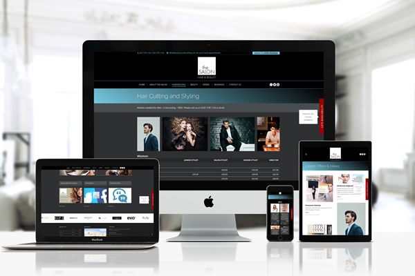 The Salon London Bridge Website by Blue Pixel Design Ltd